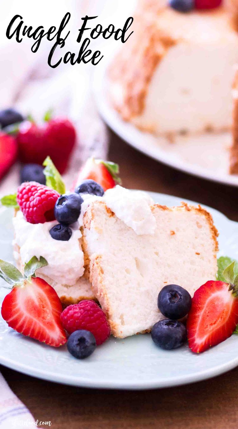 Homemade Angel Food Cake Recipe A Latte Food