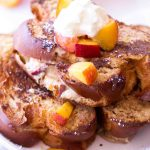 Peach cream cheese stuffed french toast (aka peach cheesecake stuffed french toast)