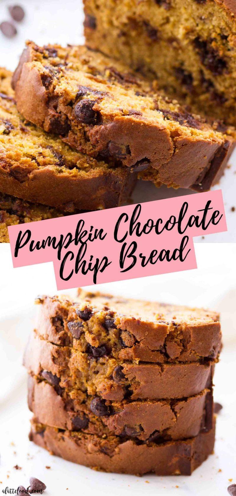 Easy Pumpkin Chocolate Chip Bread recipe photo collage