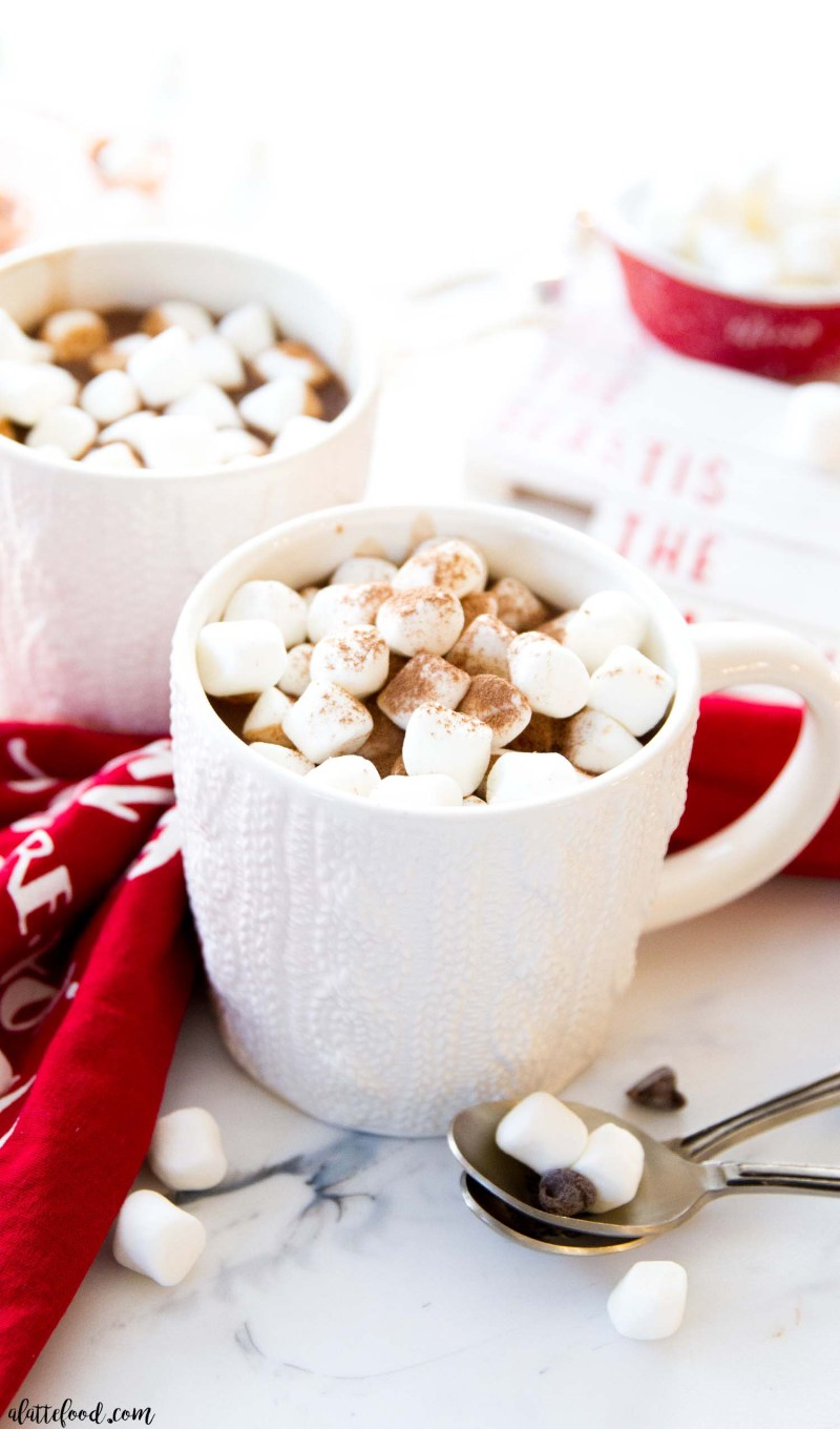mug of hot cocoa with marshmallows