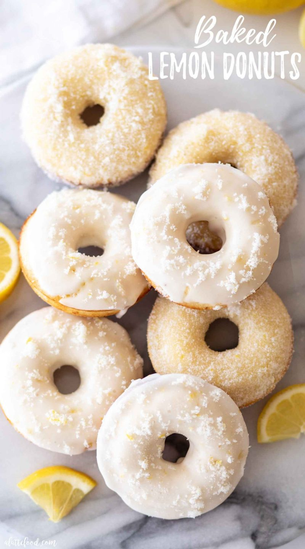 glazed lemon donuts baked in oven