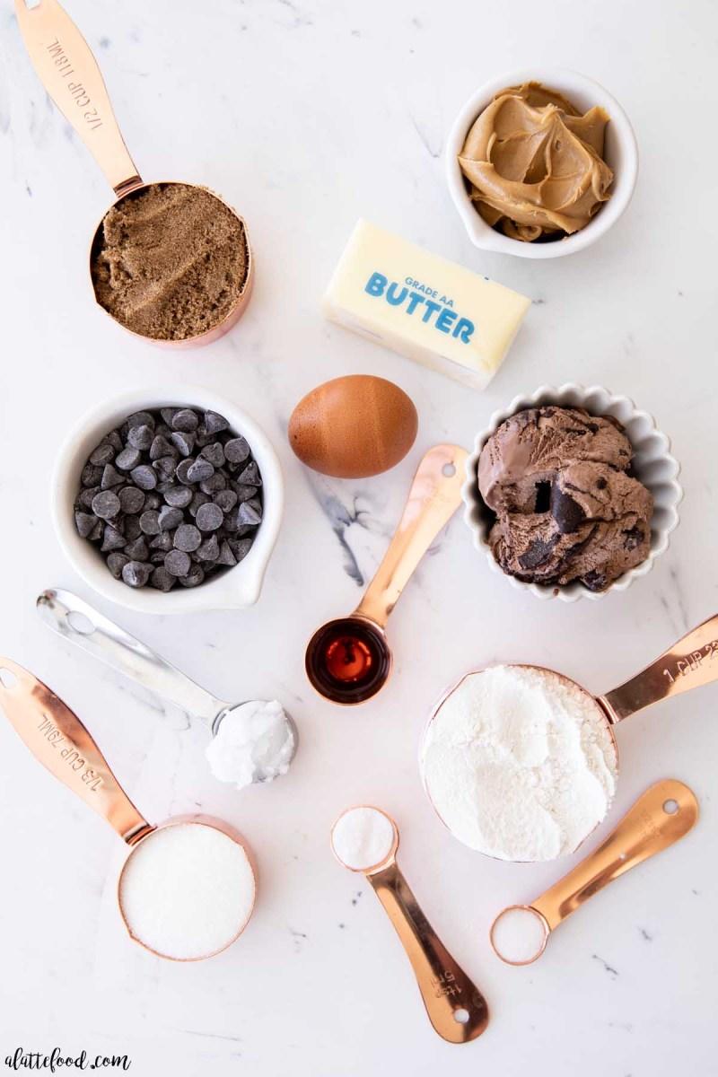chocolate peanut butter cookie ice cream sandwiches ingredients