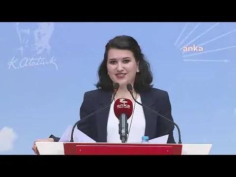 CHP Genel Başkan Yardımcısı Gökçe Gökçen, Açıklama Yapıyor