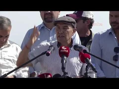 İzmir Büyükşehir Belediye Başkanı Tunç Soyer, Açıklama Yapıyor