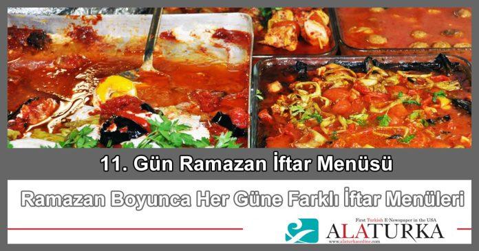 11 Gun Ramazan Iftar Menusu
