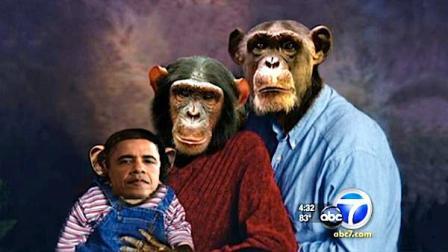 Obama'yı maymuna benzeten fotoğraf tartışma yarattı