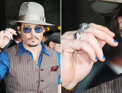 Hollywood'da erkekler arasında oje modası