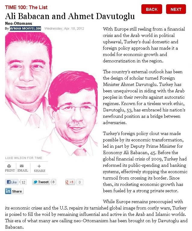 Babacan ve Davutoğlu, Dünyanın en etkili 100 ismi arasında