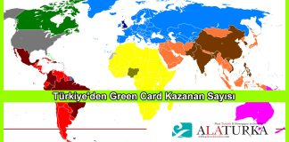 Turkiyeden Green Card Kazanan Sayisi