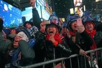 New York'ta yeni yıl kutlamaları soğuk havaya rağmen coşkulu geçti