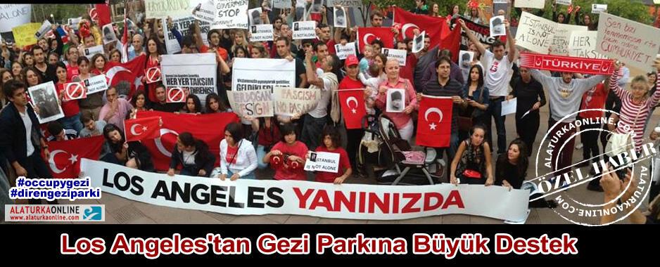 Los Angeles'tan Gezi Parkına Büyük Destek