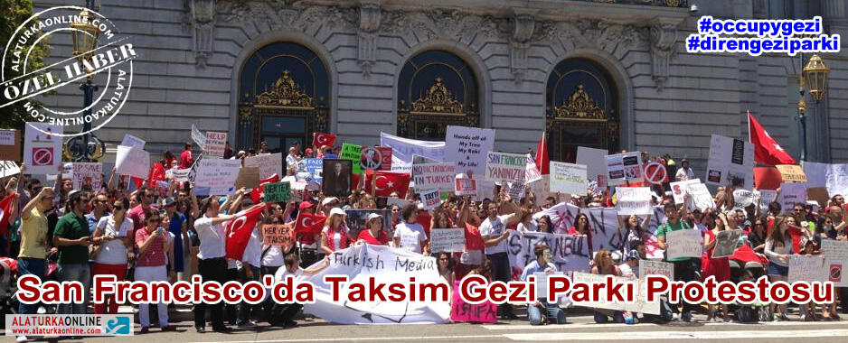 San Francisco'da Taksim Gezi Parkı Protestosu