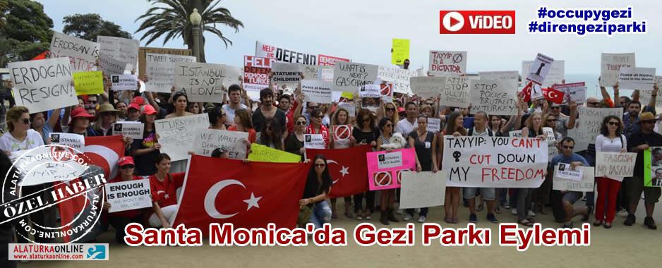 Santa Monica'da Gezi Parkı Eylemi