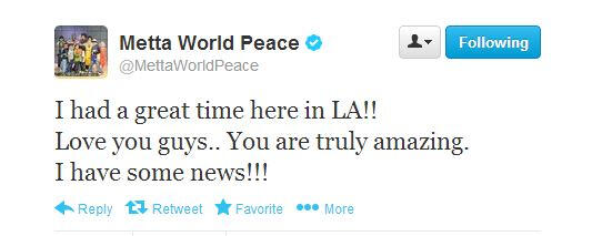 metta peace tweet los angeles