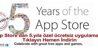app store ucretsiz uygulamalar 5 yil ozel