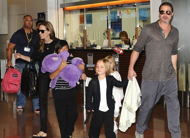 Brad Pitt ve Angelina Jolie, Noel alışverişinde