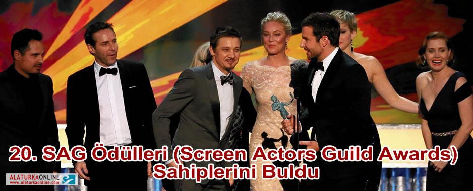 20. SAG Ödülleri (Screen Actors Guild Awards) Sahiplerini Buldu