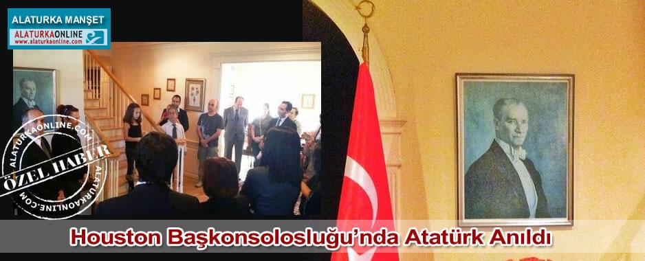 Houston Başkonsolosluğu'nda Atatürk Anıldı