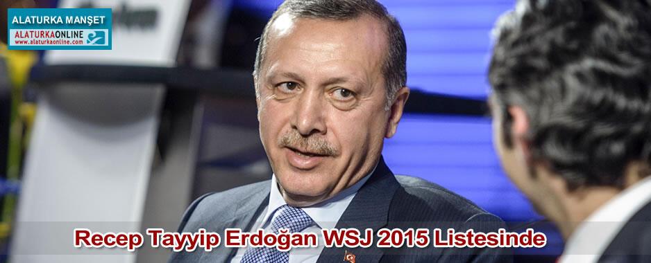 Recep Tayyip Erdoğan WSJ 2015 Listesinde