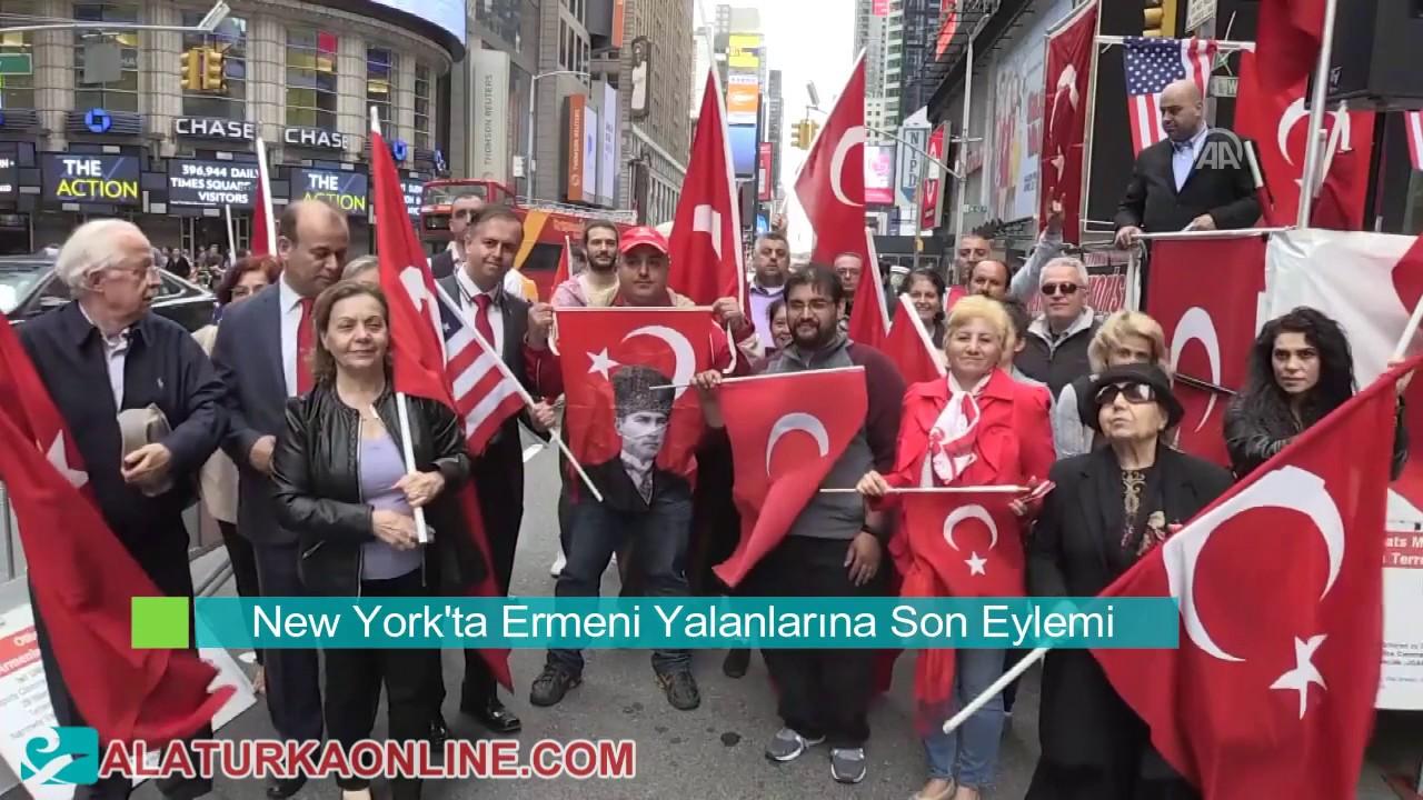 New York'ta Ermeni Yalanlarına Son Mitingi Düzenlendi