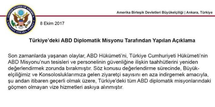 Amerika Turkiye Vize Suresiz Durdruma