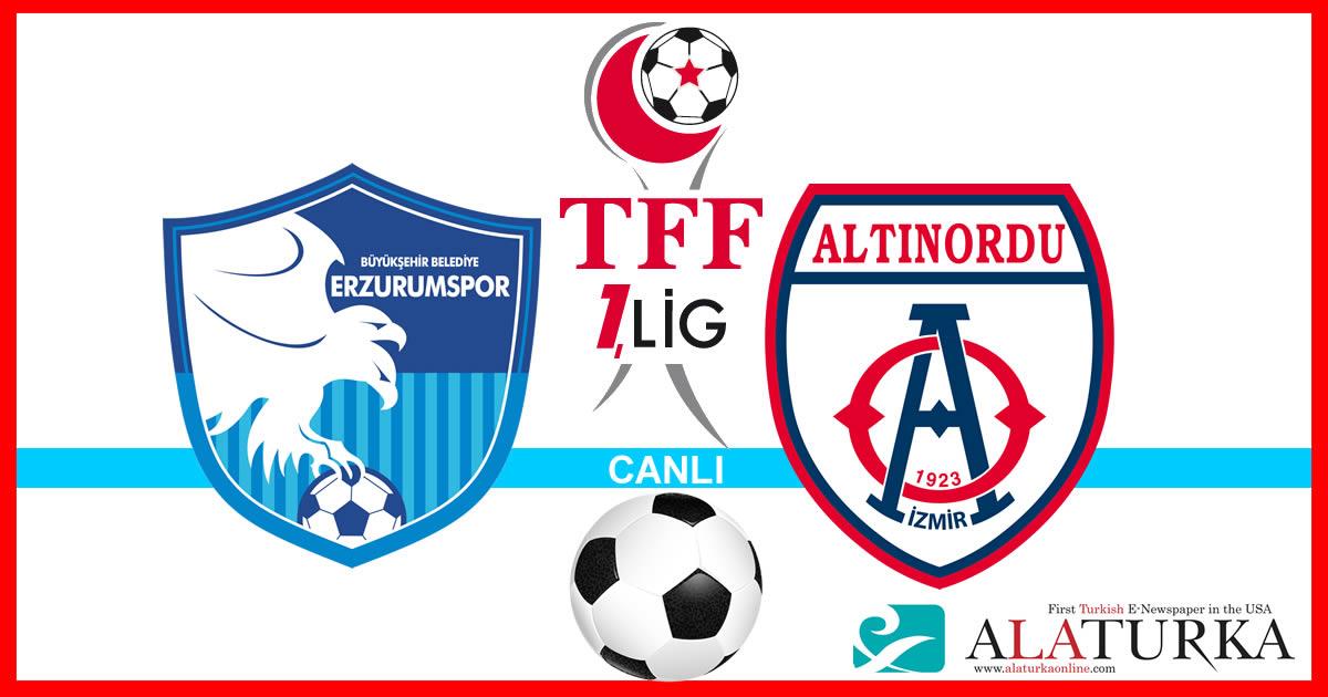 Erzurumspor – Altınordu maçını canlı izle