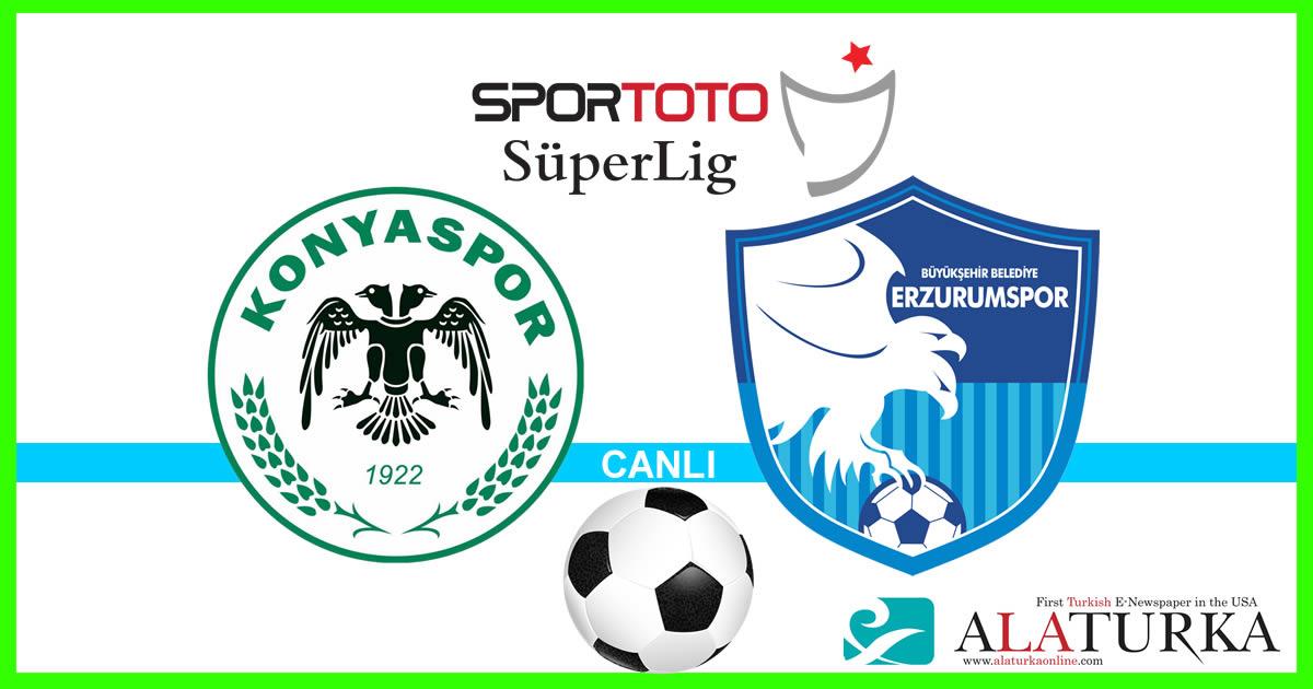 Konyaspor – Erzurumspor maçını canlı izle