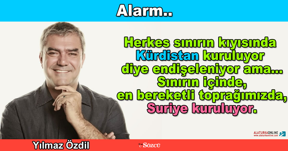 Alarm.. – Yılmaz Özdil