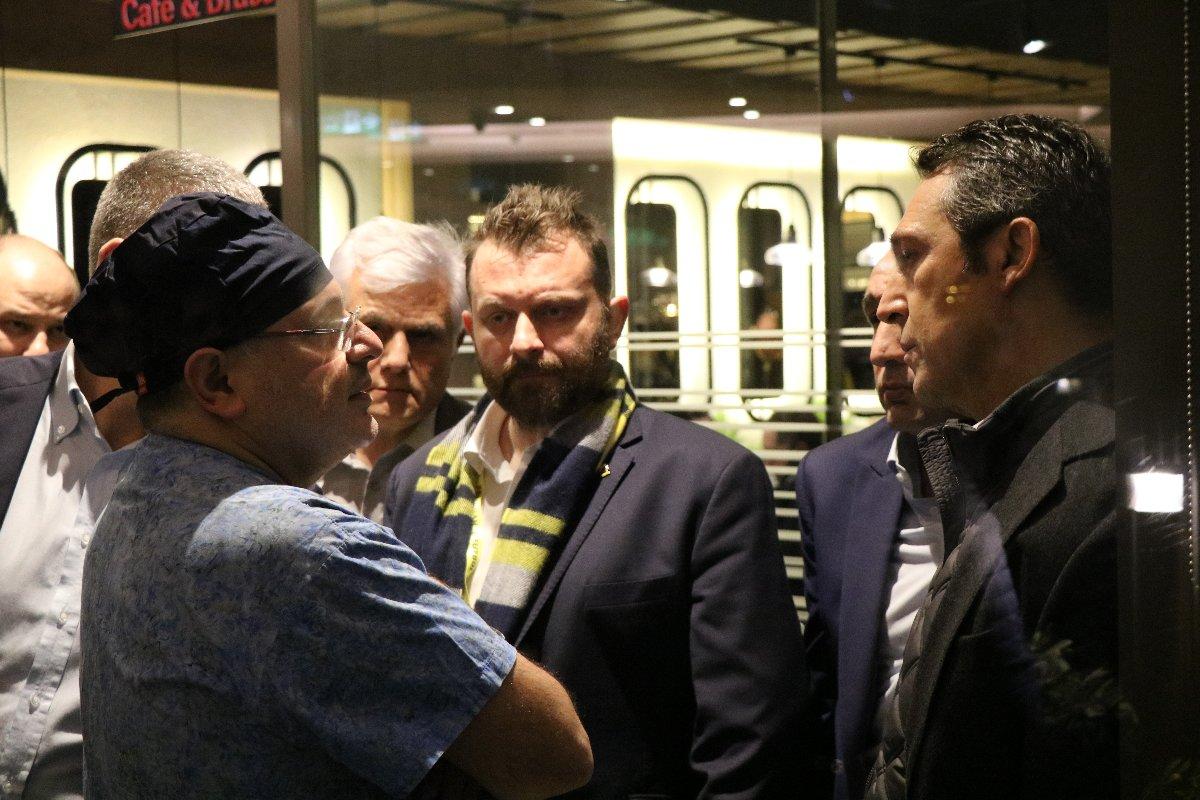 Fenerbahçe Başkanı Koç'tan yaralı taraftara ziyaret