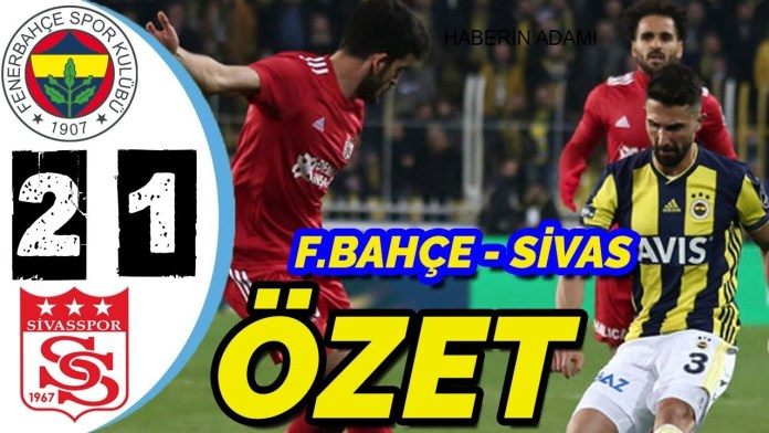 Fenerbahçe 2 - 1 Demir Grup Sivasspor Maç Özeti