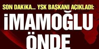 YSK Acikladi Imamoglu Onde