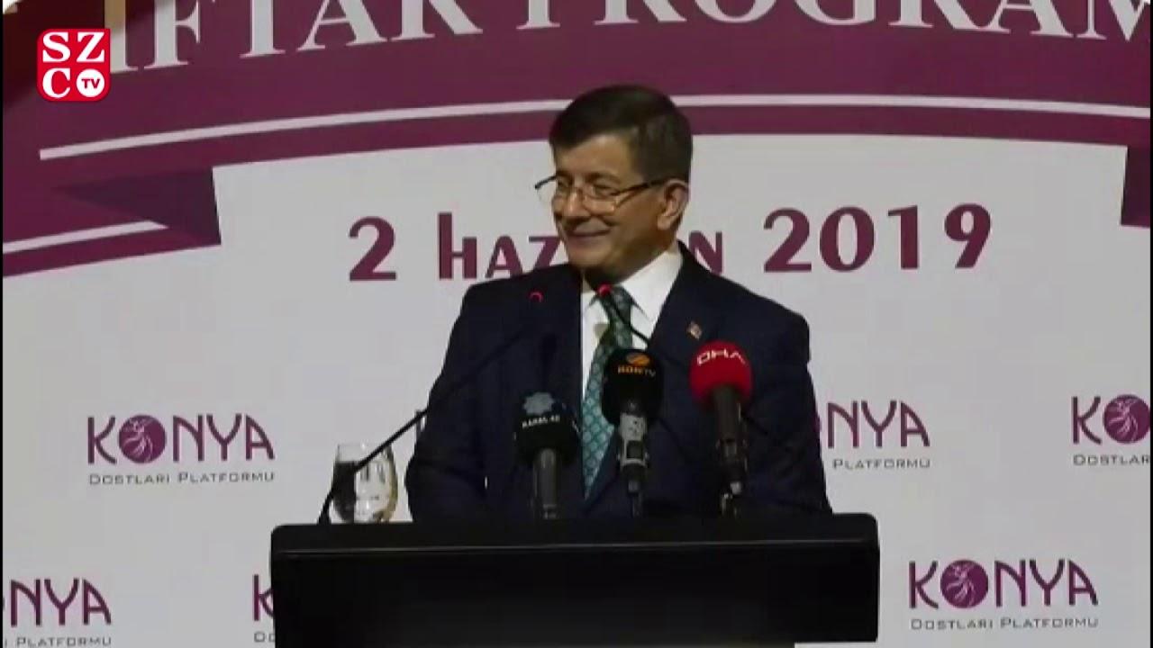 Ahmet Davutoğlu'ndan Konya'da yeni parti duyurusu