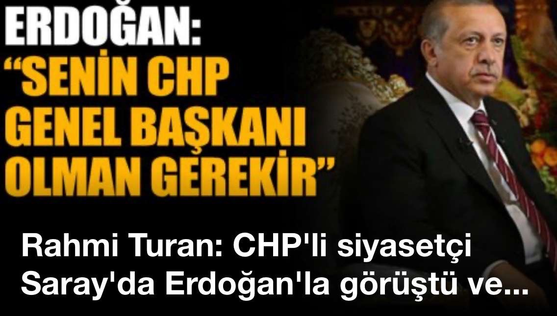 Rahmi Turan: CHP'li siyasetçi Saray'da Erdoğan'la görüştü ve..