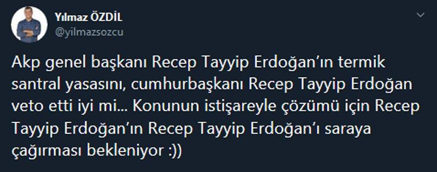 Yılmaz Özdil, Erdoğan'ın veto kararını böyle yorumladı ! Sosyal Medya Yıkıldı !