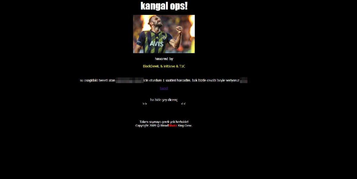 Sivasspor'un resmi sitesi hacklendi! Fenerbahçe maçının ardından…