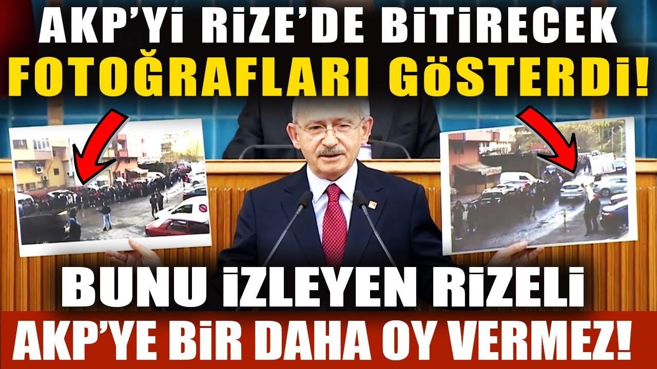 Kılıçdaroğlu Öyle Bir Fotoğraf Gösterdi Ki, Rizeliler AKP'ye İsyan Edecek!