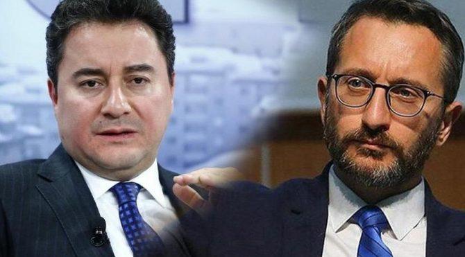 Son dakika… Fahrettin Altun'dan Ali Babacan'a gönderme!