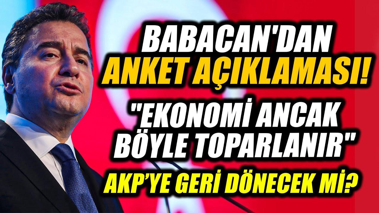 Ali Babacan'dan anket açıklaması ve olay ekonomi yorumu!