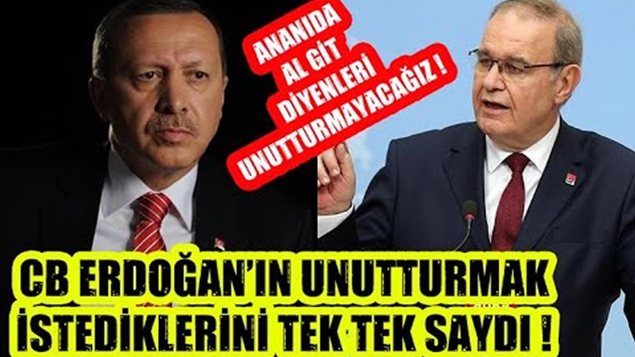 Erdoğan ve Sarayın Unutturmak İstedikleri !