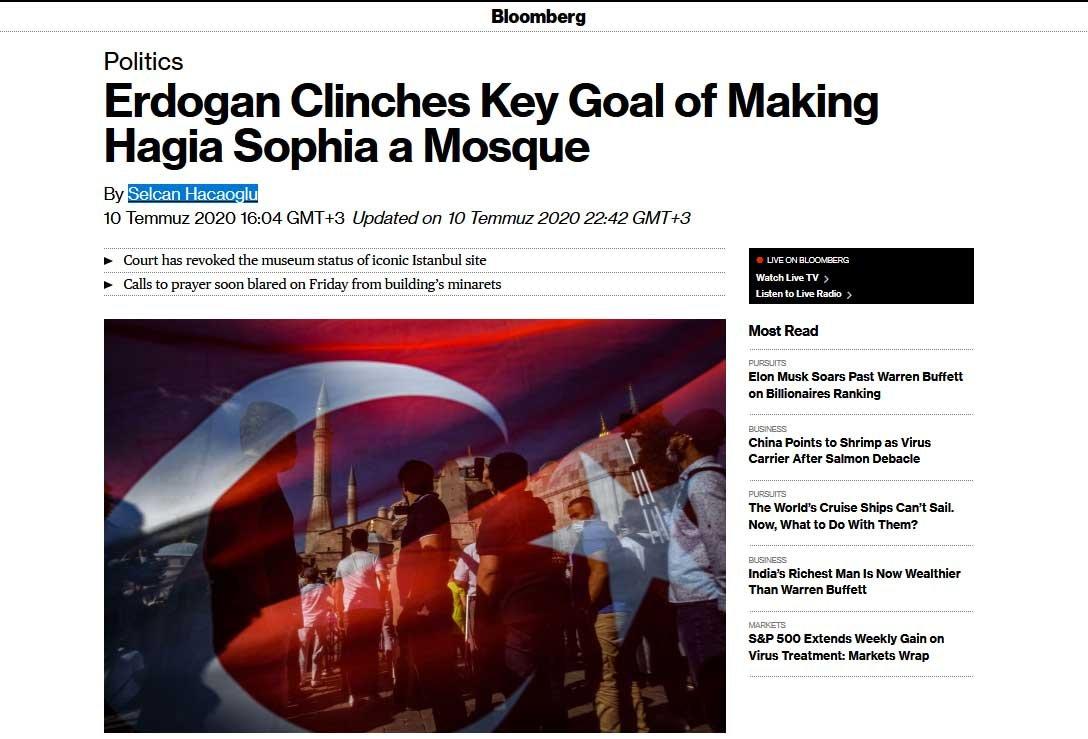Dünya Ayasofya kararını böyle gördü: Erdoğan kritik amacına ulaştı