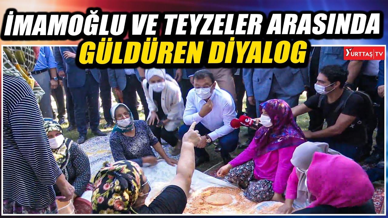 """Ekrem İmamoğlu ile teyzeler arasında güldüren diyalog: """"DARGINIM SANA"""""""