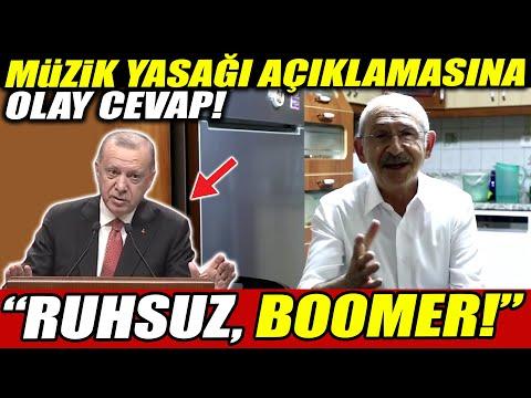 """Erdoğan'ın müzik yasağı açıklamasına Kılıçdaroğlu'ndan olay tepki! """"Ruhsuz Bomeer!"""""""