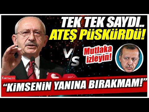 """Kılıçdaroğlu Erdoğan'a ateş püskürdü! 'Herkesi uyarıyorum.. Kimsenin yanına bırakmam!"""""""