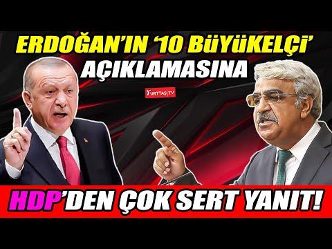 Erdoğan'ın '10 büyükelçi' açıklamasına HDP'den sert yanıt!