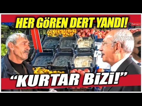 """Kars'ta halk Kılıçdaroğlu'na """"Kurtar bizi!"""" diye dert yandı!"""
