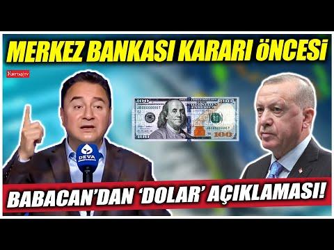 Merkez Bankası faiz kararı öncesi Babacan'dan çarpıcı dolar açıklaması!