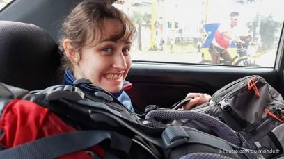 Dans le taxi à Lima