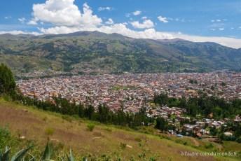 Huaraz vue de haut