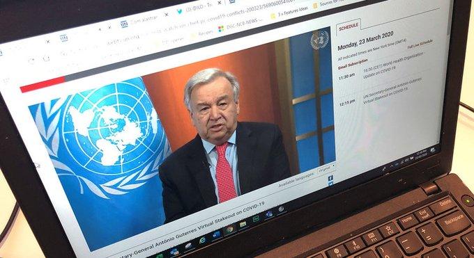 Photo of عاجل .. الحكومة والتحالف يرحبان بدعوة أمين الأمم المتحدة إلى وقف إطلاق النار لمواجهة فيروس كورونا .. والحوثيون يعلنون موقفهم (تفاصيل)