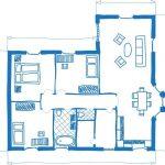 تصميم منزل دور واحد اقتصادي بالصور والمقاييس